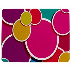 Paint Circle Red Pink Yellow Blue Green Polka Jigsaw Puzzle Photo Stand (Rectangular)