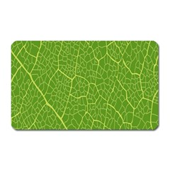 Green Leaf Line Magnet (Rectangular)