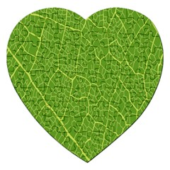 Green Leaf Line Jigsaw Puzzle (Heart)