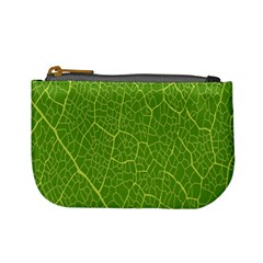Green Leaf Line Mini Coin Purses