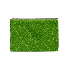 Green Leaf Line Cosmetic Bag (Medium)