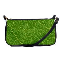 Green Leaf Line Shoulder Clutch Bags