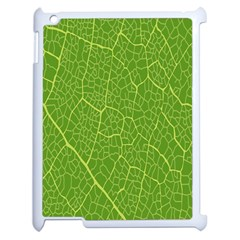 Green Leaf Line Apple iPad 2 Case (White)