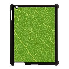 Green Leaf Line Apple Ipad 3/4 Case (black)