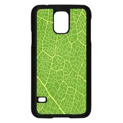 Green Leaf Line Samsung Galaxy S5 Case (black)