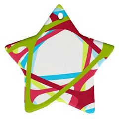 Nets Network Green Red Blue Line Ornament (Star)
