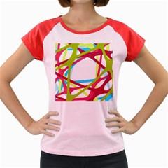 Nets Network Green Red Blue Line Women s Cap Sleeve T-Shirt