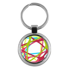 Nets Network Green Red Blue Line Key Chains (Round)