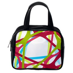 Nets Network Green Red Blue Line Classic Handbags (One Side)