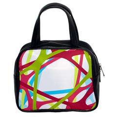 Nets Network Green Red Blue Line Classic Handbags (2 Sides)