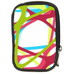 Nets Network Green Red Blue Line Compact Camera Cases