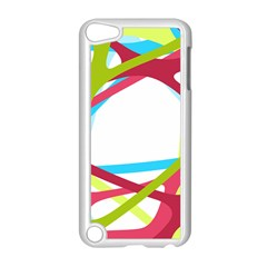 Nets Network Green Red Blue Line Apple iPod Touch 5 Case (White)