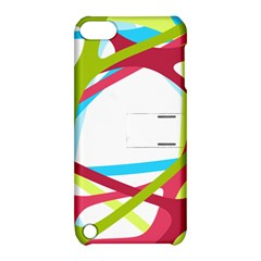 Nets Network Green Red Blue Line Apple iPod Touch 5 Hardshell Case with Stand