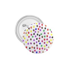 Paw Prints Dog Cat Color Rainbow Animals 1.75  Buttons