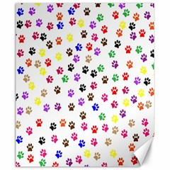 Paw Prints Dog Cat Color Rainbow Animals Canvas 20  x 24
