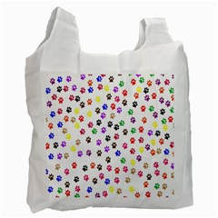 Paw Prints Dog Cat Color Rainbow Animals Recycle Bag (Two Side)