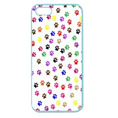 Paw Prints Dog Cat Color Rainbow Animals Apple Seamless iPhone 5 Case (Color)