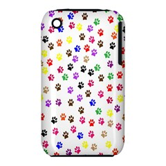 Paw Prints Dog Cat Color Rainbow Animals iPhone 3S/3GS