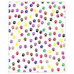 Paw Prints Dog Cat Color Rainbow Animals Drawstring Bag (Small)