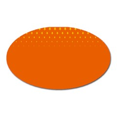Orange Star Space Oval Magnet