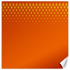 Orange Star Space Canvas 12  x 12