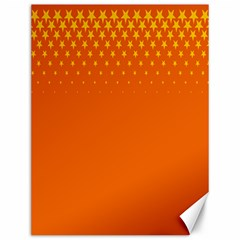 Orange Star Space Canvas 12  x 16