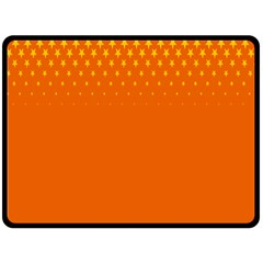 Orange Star Space Fleece Blanket (Large)