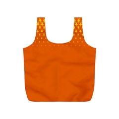 Orange Star Space Full Print Recycle Bags (S)