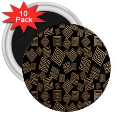 Magic Sleight Plaid 3  Magnets (10 pack)