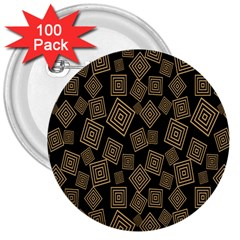 Magic Sleight Plaid 3  Buttons (100 pack)