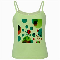 Polka Dot Circle Red Blue Green Green Spaghetti Tank