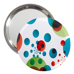 Polka Dot Circle Red Blue Green 3  Handbag Mirrors