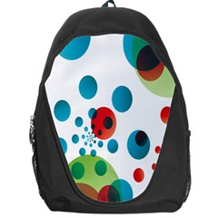 Polka Dot Circle Red Blue Green Backpack Bag