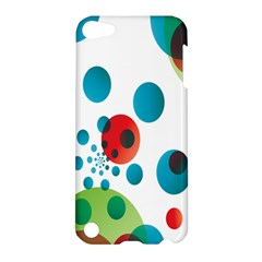 Polka Dot Circle Red Blue Green Apple iPod Touch 5 Hardshell Case