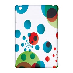 Polka Dot Circle Red Blue Green Apple iPad Mini Hardshell Case (Compatible with Smart Cover)