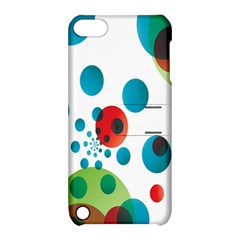 Polka Dot Circle Red Blue Green Apple iPod Touch 5 Hardshell Case with Stand