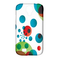 Polka Dot Circle Red Blue Green Samsung Galaxy S4 Classic Hardshell Case (PC+Silicone)