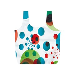 Polka Dot Circle Red Blue Green Full Print Recycle Bags (S)