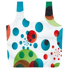 Polka Dot Circle Red Blue Green Full Print Recycle Bags (L)