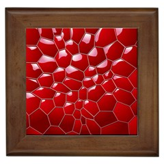 Plaid Iron Red Line Light Framed Tiles