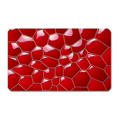 Plaid Iron Red Line Light Magnet (Rectangular)