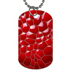 Plaid Iron Red Line Light Dog Tag (One Side)
