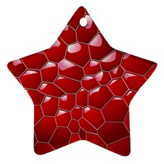 Plaid Iron Red Line Light Star Ornament (Two Sides)