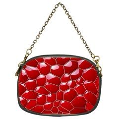 Plaid Iron Red Line Light Chain Purses (One Side)