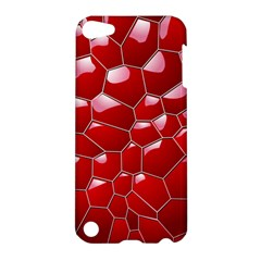Plaid Iron Red Line Light Apple iPod Touch 5 Hardshell Case