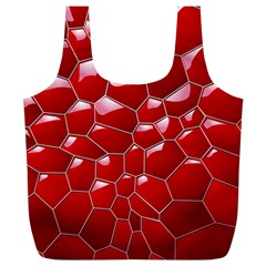 Plaid Iron Red Line Light Full Print Recycle Bags (L)