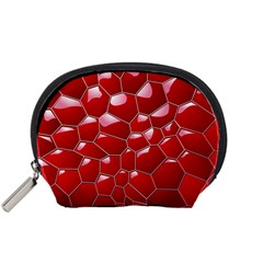 Plaid Iron Red Line Light Accessory Pouches (small)