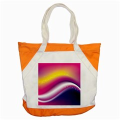 Rainbow Space Red Pink Purple Blue Yellow White Star Accent Tote Bag