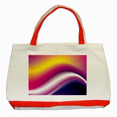 Rainbow Space Red Pink Purple Blue Yellow White Star Classic Tote Bag (Red)