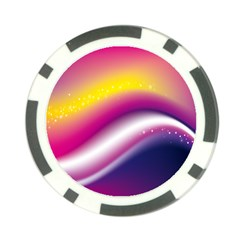 Rainbow Space Red Pink Purple Blue Yellow White Star Poker Chip Card Guard